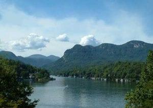 Buffalo Mountain and Lake Lure