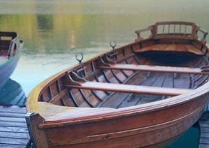Canoe on Lake Lure