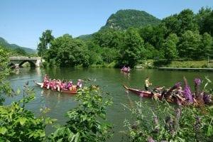 Dragon Boat Race on Lake Lure
