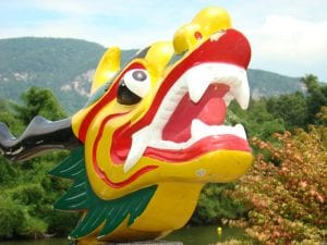 Figurehead on Dragon Boat