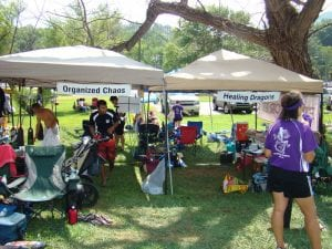 Dragon Boat Team Tents