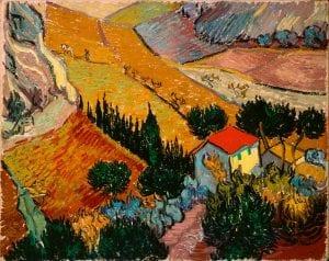 4266-2256 Landscape House Ploughman by Vincent Van Gogh
